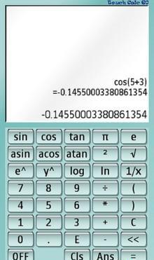 Touch Calc 60 Software For Nokia S60v5,