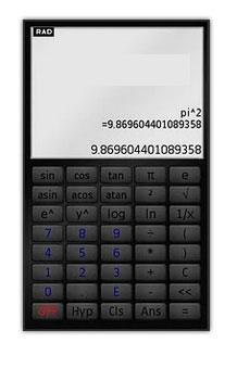 Touchscreen scientific calculator for S6