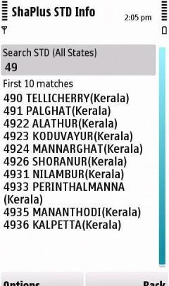 Indian STD codes Finder - ShaPlus STD In