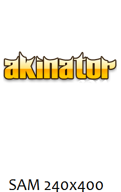 Akinator REAL FULLSCREEN 240x400 TOUCH