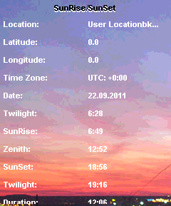 Sunset/Sunrise Free
