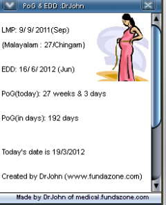 Pregnancy Period of Gestation & EDD calculator for Obstetrics