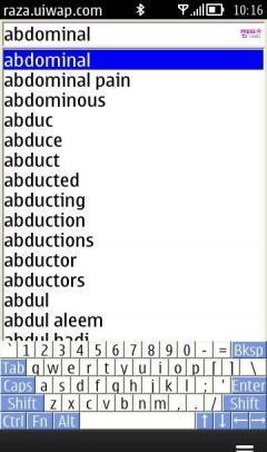 Urdu Dictionary Java