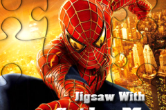 Jigsaw With Spider Man (320x240)