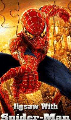 Jigsaw With Spider Man (360x640)