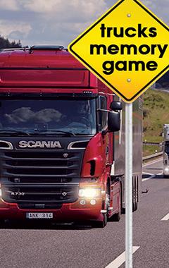 Trucks Memory Game (240x400)