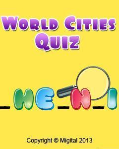 World Cities Quiz Free