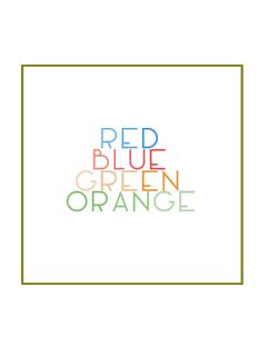 Red Green Blue Orange