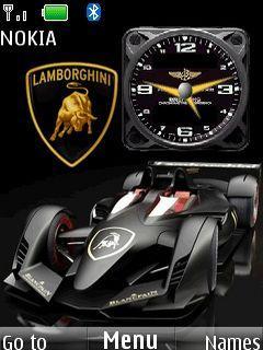 Lamborghini Clock