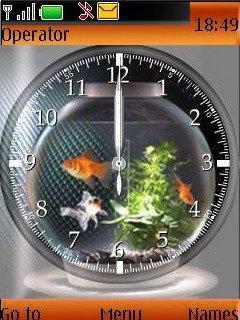 Glod Fish Clock