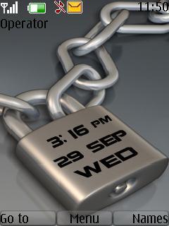 3d Lock Clock