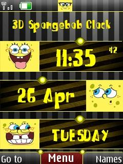 3d Spongebob Clock