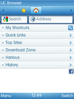 Free Download UC Browser International for Java - Browsers App