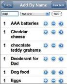 In the Bag Shopping List Web App