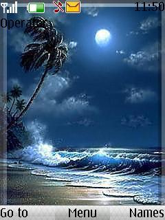 3d Blue Beach