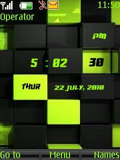 3d Cubes Clock