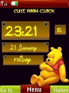 3d Cute Pooh Clock