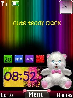 3d Cute Teddy Clock