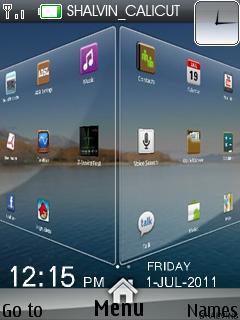 3d Menu Clock