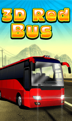 3D Red Bus