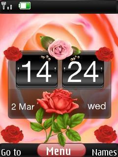 3d Rose Beauty Clock