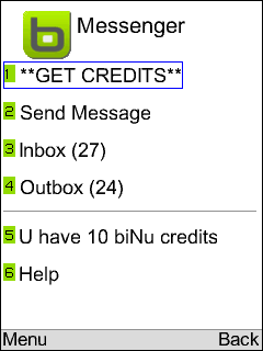 biNu Messenger Chat SMS Email
