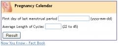 Weekly Pregnancy Calendar
