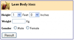 Lean Body Mass Calculator