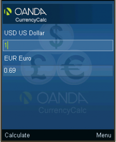 OANDA Currency Converter for J2ME