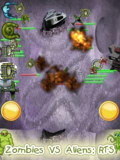 Zombies vs aliens: RTS