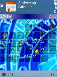 Anniversary Calendar (S60 2nd/3rd Edition)