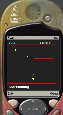 English-German Mobile Snake Word Game