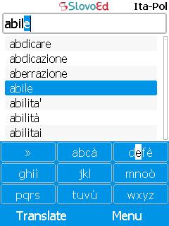 SlovoEd Compact Italian-Polish & Polish-Italian Dictionary (Java)