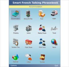 Smart French Talking Phrasebook for Java J2ME