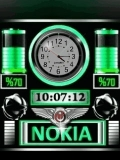 animated battery clock