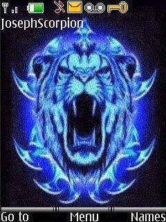 Animated Blue Lion