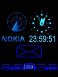 ANIMATED NoKia Blue CLOCK
