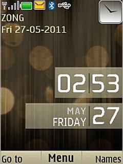 Brown Desire Clock