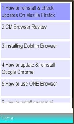 Browsers Installation /usage