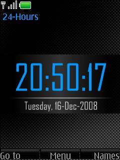 Carbon Blue Clock