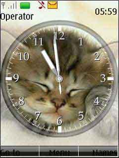 Clock - Cat