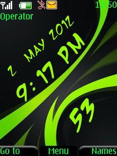 Digial Green Clock