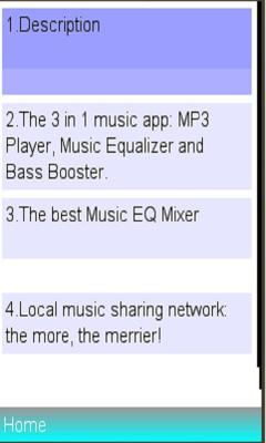 Equalizer music player /booster