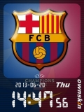 FC Barcelona Animated Clock