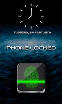 Fingerprint Lock Screen secured