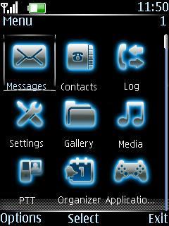 Glowing Icons Set