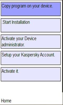 Kaspersky security on mobile