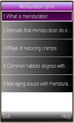 Mensturation cycle