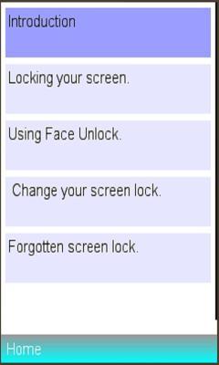 Mobile ScreenLock Settings