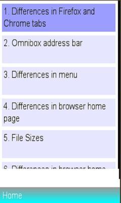 mozilla versus google chrome Features